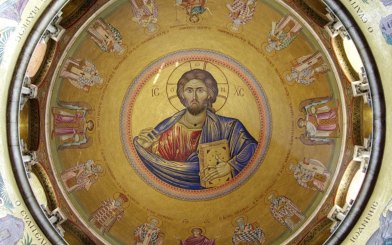 Holy Sepulchre, detail of the dome over the Katholikon, Jerusalem