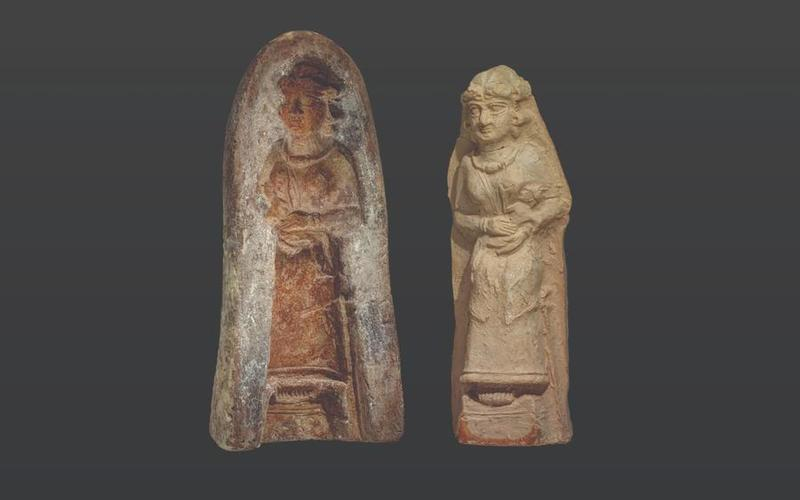 Terracotta mold with cast statue